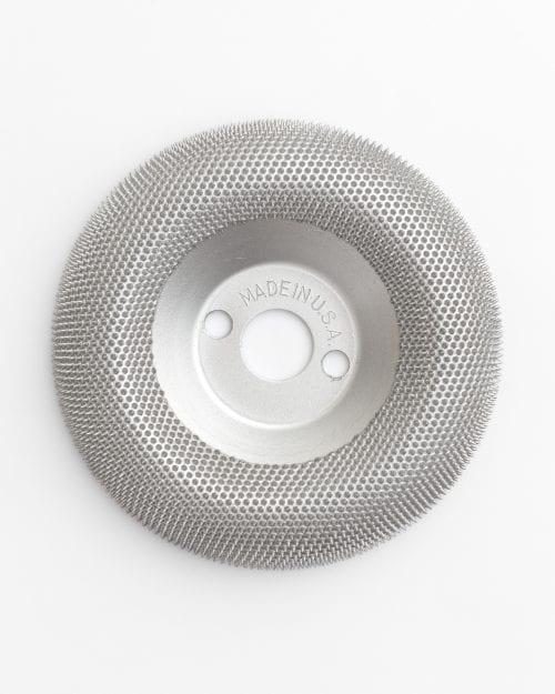 Pusapvalis drožybos diskas
